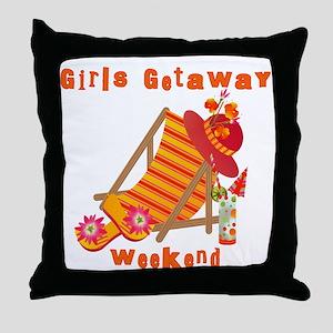Girls Getaway Weekend Throw Pillow