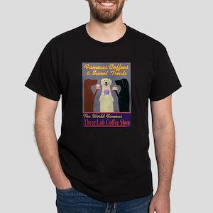 Three Lab Coffee Shop Dark T-Shirt