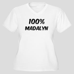 100 Percent Madalyn Women's Plus Size V-Neck T-Shi