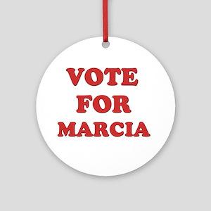 Vote for MARCIA Ornament (Round)