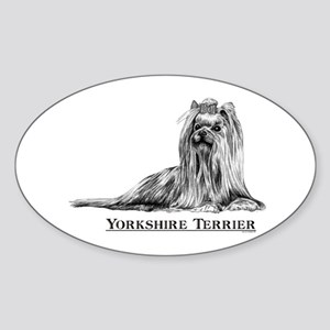 Yorkshire Terrier Dog Breed Oval Sticker