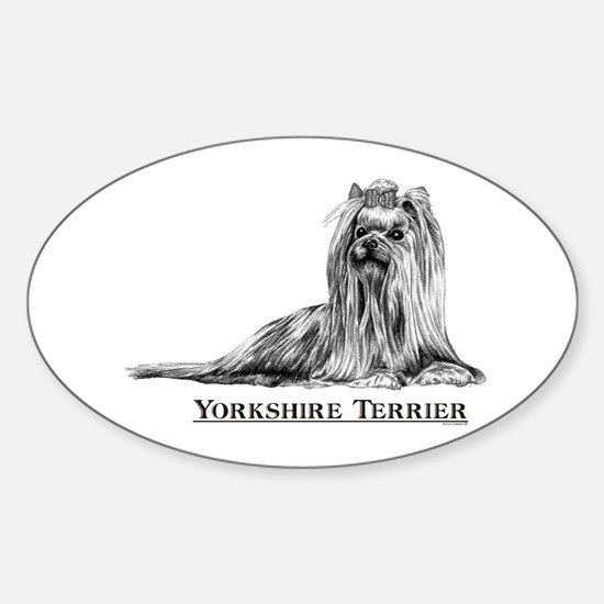 Yorkshire Terrier Dog Breed Oval Decal