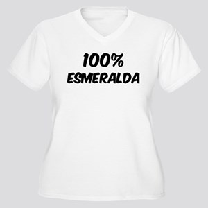 100 Percent Esmeralda Women's Plus Size V-Neck T-S