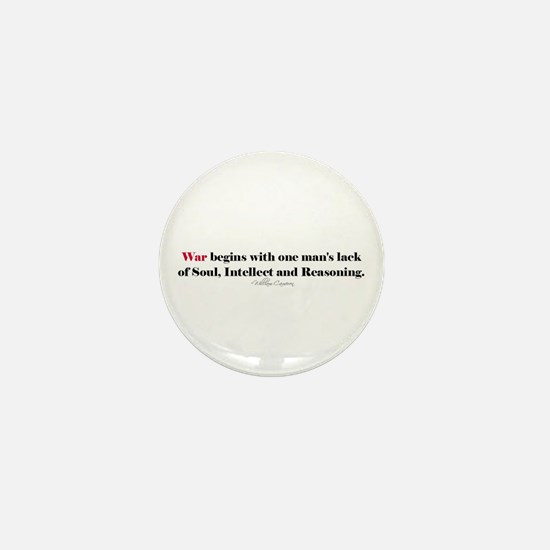 Anti War Quote Mini Button