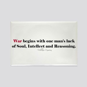 Anti War Quote Rectangle Magnet