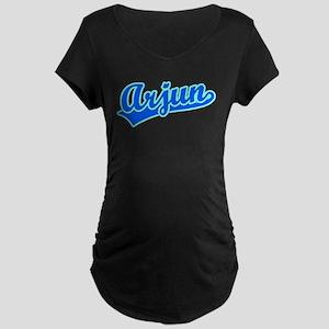 Retro Arjun (Blue) Maternity Dark T-Shirt