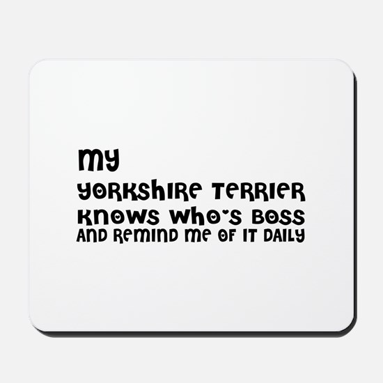 My Yorkshire Terrier Dog Designs Mousepad