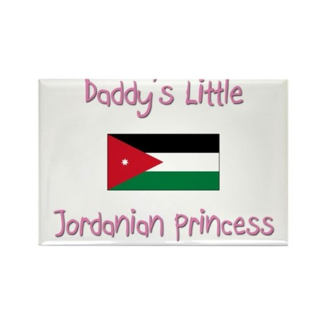 Daddy's little Jordanian Princess Rectangle Magnet