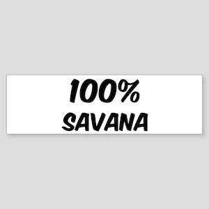 100 Percent Savana Bumper Sticker