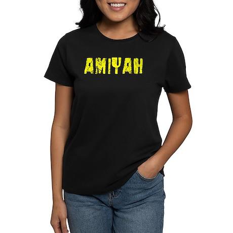 Amiyah Faded (Gold) Women's Dark T-Shirt