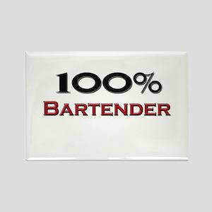 100 Percent Bartender Rectangle Magnet