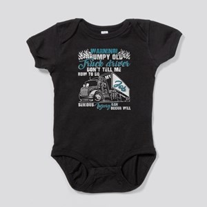 Warning Grumpy Old Truck Driver T Shirt Body Suit