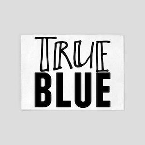 true blue 5'x7'Area Rug