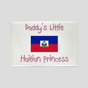 Daddy's little Haitian Princess Rectangle Magnet