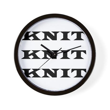 Knit Knit Knit Wall Clock