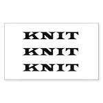 Knit Knit Knit Rectangle Sticker
