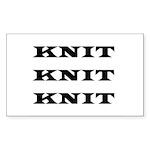 Knit Knit Knit Rectangle Sticker 10 pk)