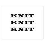 Knit Knit Knit Small Poster