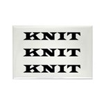 Knit Knit Knit Rectangle Magnet (10 pack)