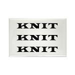 Knit Knit Knit Rectangle Magnet