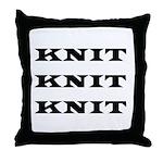 Knit Knit Knit Throw Pillow