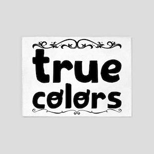 true colors 5'x7'Area Rug