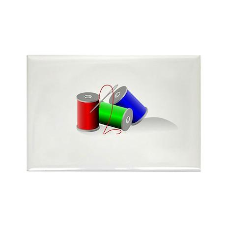 Colorful Thread Spools - Sewi Rectangle Magnet (10