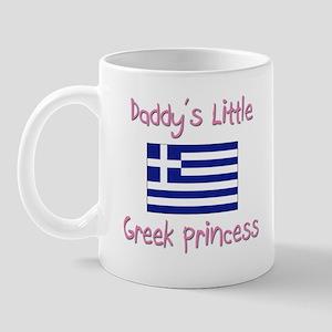Daddy's little Greek Princess Mug