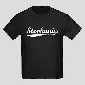 Vintage Stephanie (Silver) Kids Dark T-Shirt