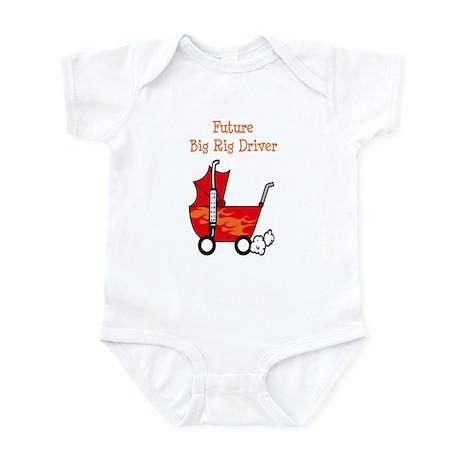 Stroller Future Big Rig Driver Infant Bodysuit