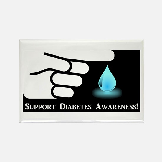 Diabetes Support Rectangle Magnet