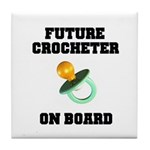 Baby On Board - Future Crocheter Tile Coaster