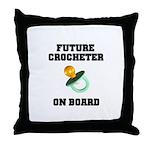 Baby On Board - Future Crocheter Throw Pillow