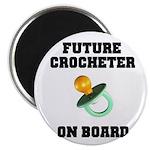 Baby On Board - Future Crocheter Magnet