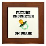 Baby On Board - Future Crocheter Framed Tile