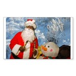 Evil santa Rectangle Sticker 50 pk)