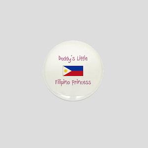 Daddy's little Filipino Princess Mini Button