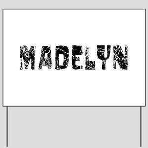 Madelyn Faded (Black) Yard Sign