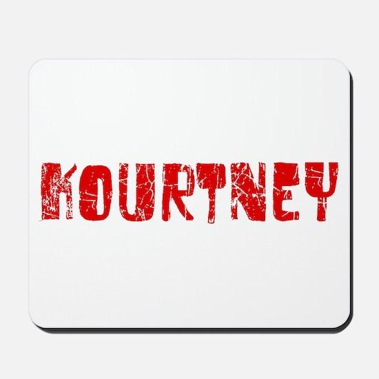Kourtney Faded (Red) Mousepad