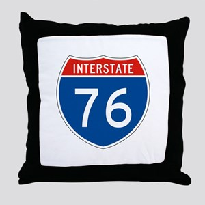 Interstate 76, USA Throw Pillow