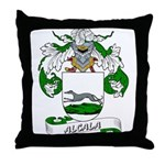 Alcala Family Crest Throw Pillow