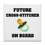 Future Cross-Stitcher on Boar Tile Coaster