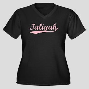 Vintage Taliyah (Pink) Women's Plus Size V-Neck Da