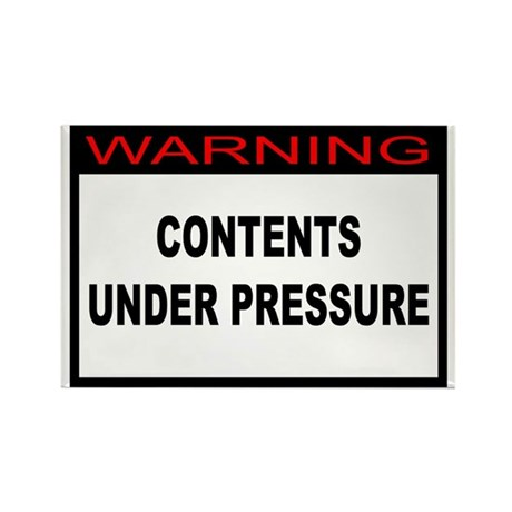 Contents Under Pressure Rectangle Magnet (10 pack)