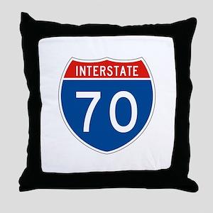 Interstate 70, USA Throw Pillow