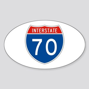 Interstate 70, USA Oval Sticker