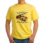 Sportscar 50th Birthday Gifts Yellow T-Shirt