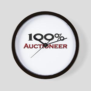100 Percent Auctioneer Wall Clock