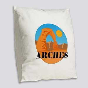 FOR THE DELICATE Burlap Throw Pillow
