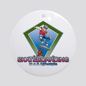 SkateBoarding Lifestyle Ornament (Round)